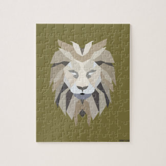 Beige King Lion Jigsaw Puzzle