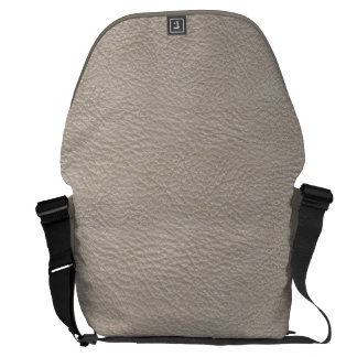 Beige Leather Print Texture Pattern Messenger Bags