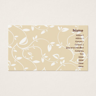 Beige Leaves - Business Business Card