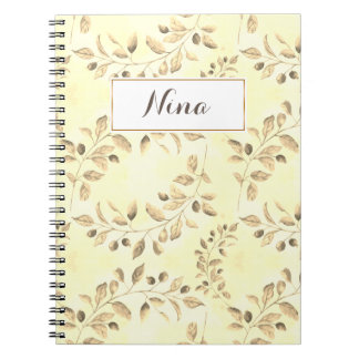 Beige Leaves Notebooks