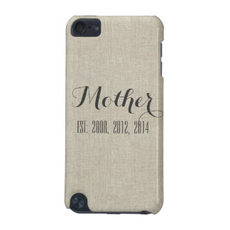 Beige Linen Custom Script Mother's Day Gift iPod Touch 5G Cases