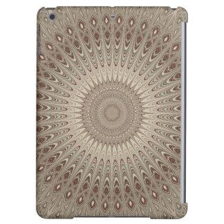 Beige mandala cover for iPad air