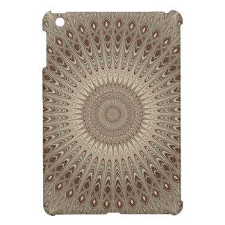 Beige mandala cover for the iPad mini