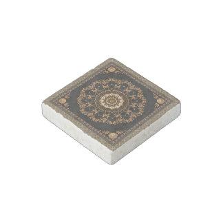 Beige Mandala Stone Magnets