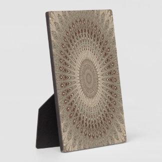 Beige mandala plaque