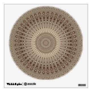 Beige mandala wall sticker