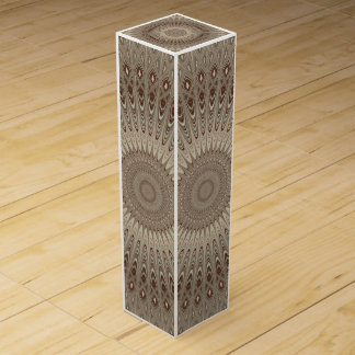 Beige mandala wine box
