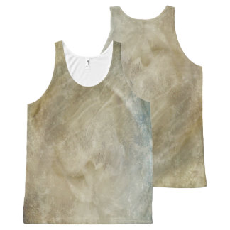 Beige Marbled All-Over-Print Tank Top