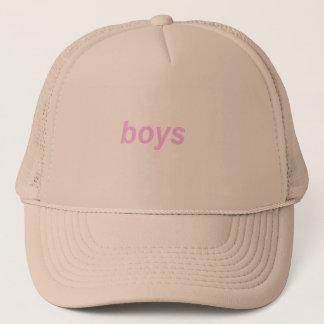 "Beige Minimalistic pink and ""boys"" CAP"