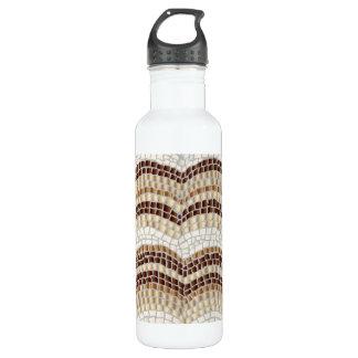 Beige Mosaic 24 oz Water Bottle