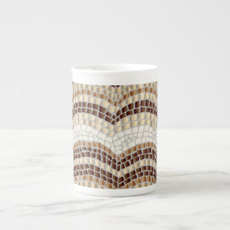 Beige Mosaic Bone China Mug