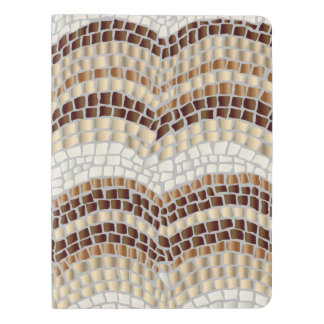 Beige Mosaic Extra Large Notebook