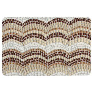 Beige Mosaic Floor Mat