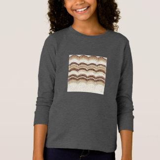Beige Mosaic Girls' Basic Long Sleeve T-Shirt