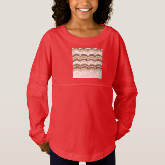 Beige Mosaic Girls' Spirit Jersey T-Shirt