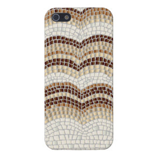Beige Mosaic Glossy iPhone 5/5s Case