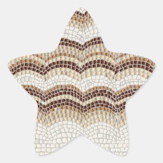 Beige Mosaic Glossy Star Sticker