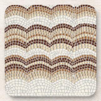 Beige Mosaic Hard Plastic Coaster