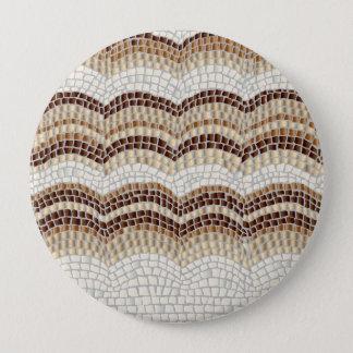 Beige Mosaic Huge Round Button