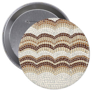 Beige Mosaic Huge Round Button