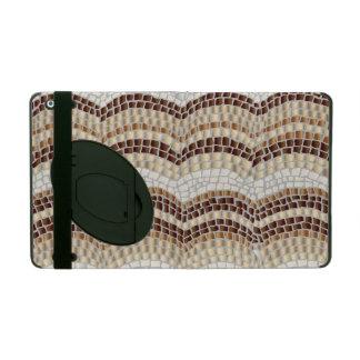 Beige Mosaic iPad 2/3/4 Case with Kickstand