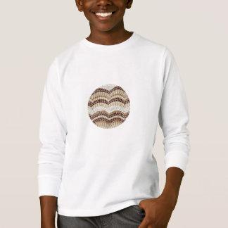 Beige Mosaic Kids' Long Sleeve T-Shirt