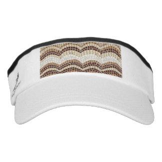 Beige Mosaic Knit Visor