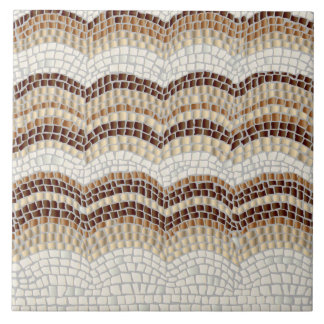 Beige Mosaic Large Ceramic Tile