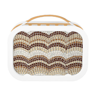 Beige Mosaic Lunch Box