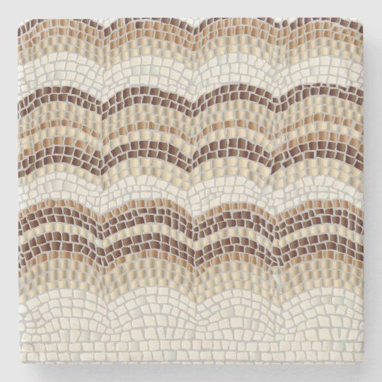 Beige Mosaic Marble Stone Coaster