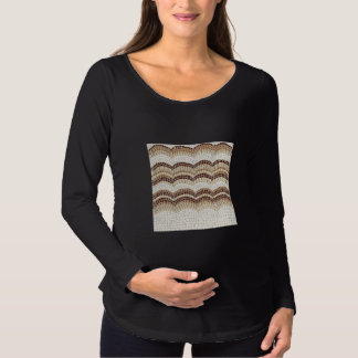 Beige Mosaic Maternity Long Sleeve T-Shirt
