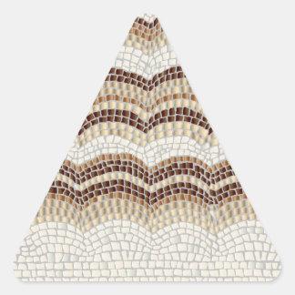 Beige Mosaic Matte Triangle Sticker