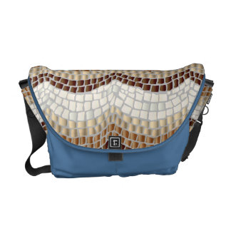 Beige Mosaic Medium Messenger Bag