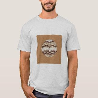 Beige Mosaic Men's Basic T-Shirt