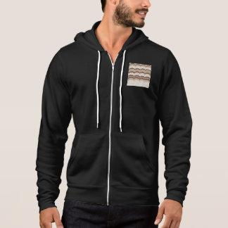 Beige Mosaic Men's Full-Zip Hoodie