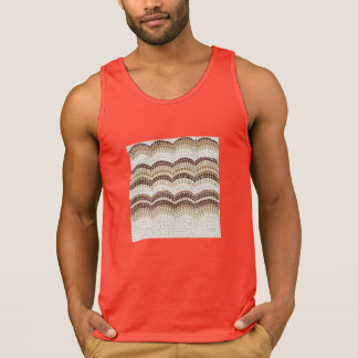 Beige Mosaic Men's Tank Top