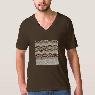 Beige Mosaic Men's V-Neck T-Shirt