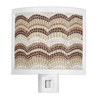 Beige Mosaic Night Light