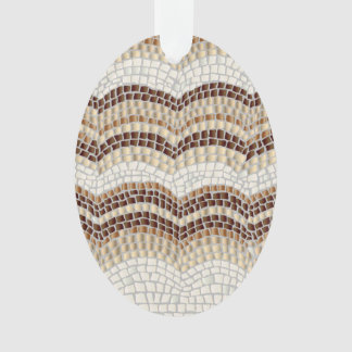 Beige Mosaic Oval Ornament