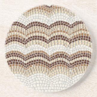 Beige Mosaic Sandstone Drink Coaster
