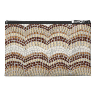 Beige Mosaic Travel Accessory Bag
