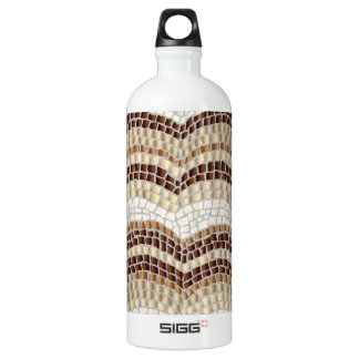 Beige Mosaic Traveller 1 L Water Bottle
