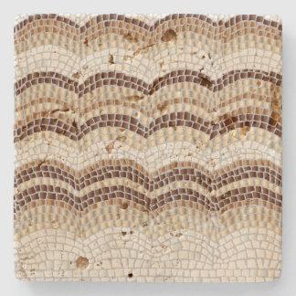 Beige Mosaic Travertine Stone Coaster