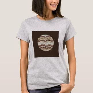 Beige Mosaic Women's Basic T-Shirt