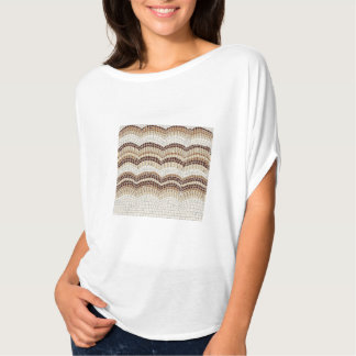 Beige Mosaic Women's Flowy Circle Top