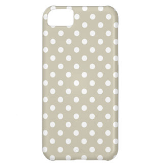 Beige Neutral Polka Dots Retro Vintage Preppy Cover For iPhone 5C