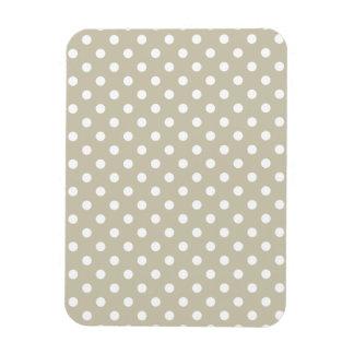 Beige Neutral Polka Dots Stylish  Modern Chic Rectangular Photo Magnet