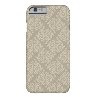 Beige ornamental Pattern Barely There iPhone 6 Case
