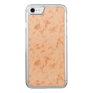 Beige Pastel Pattern Carved iPhone 7 Case