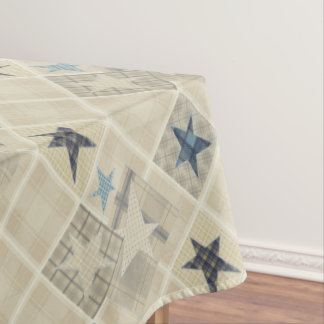 Beige patchwork tablecloth